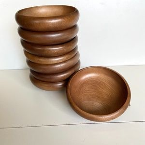 Other - Set of 8 Wooden Bowls